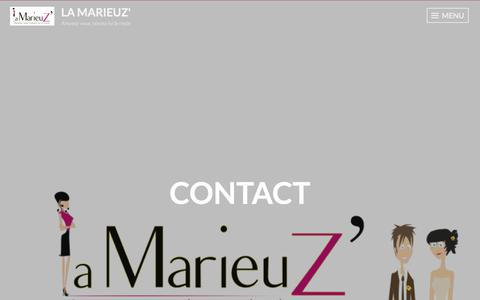 Screenshot of Contact Page wordpress.com - Contact – La Marieuz' - captured Feb. 3, 2018
