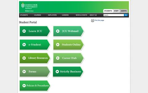 Screenshot of Login Page jcub.com.au - Student Portal | James Cook University Brisbane - captured March 23, 2016