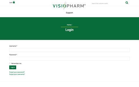 Screenshot of Login Page visiopharm.com - Login - captured Oct. 20, 2018