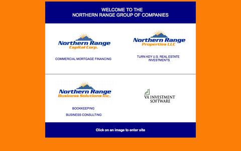 Screenshot of Home Page northernrange.ca - Northern Range Group of Companies - Commercial Mortgages | Bookkeeping Services | Business Consulting | Venture Capital - captured Oct. 9, 2014