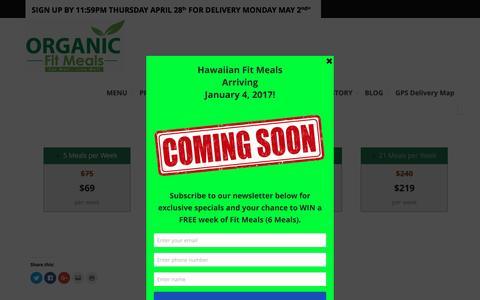 Screenshot of Pricing Page organicfitmeals.com - Pricing | Organic Fit Meals - captured Nov. 21, 2016