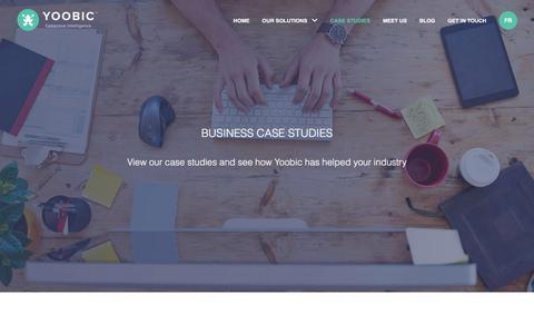 Screenshot of Case Studies Page yoobic.com - Case Studies - Yoobic - captured July 19, 2016
