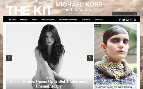Screenshot of Home Page thekit.ca - The Kit - Canada's 360° beauty and style leader - captured Oct. 8, 2015