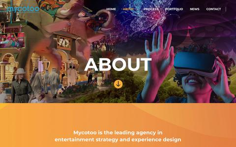Screenshot of About Page mycotoo.com - About – Mycotoo - captured Sept. 30, 2018
