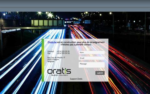 Screenshot of Home Page oratis.be - Oratis - captured Oct. 9, 2014