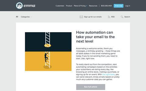 Screenshot of Blog myemma.com - Emma Email Marketing Blog   Emma, Inc. - captured July 22, 2016
