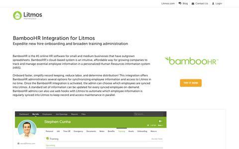 BambooHR - Litmos