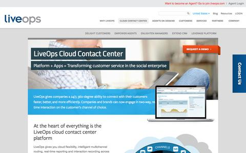 Screenshot of Products Page liveops.com - Cloud Contact Center | LiveOps Cloud Contact Center | Virtual Call Center Software - captured Oct. 10, 2014