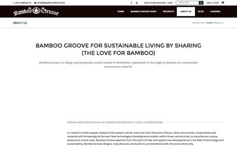 Screenshot of About Page bamboo-groove.com - Sustainable bamboo designshop | Bamboo-groove.com - captured Dec. 29, 2015