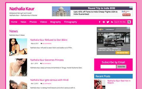Screenshot of Press Page nathaliakaur.com - News - captured May 14, 2016