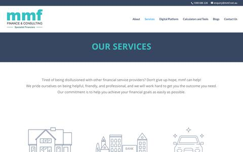 Screenshot of Services Page mmf.net.au - Services | MMF - captured Sept. 18, 2019