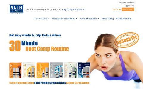 Screenshot of Home Page skinfitnesstherapy.com - SkinFitnessTherapy - Our Products Don't Just Sit On The Skin... They Totally Transform It! - captured July 27, 2018