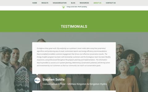 Screenshot of Testimonials Page ecotagious.com - Testimonials – Ecotagious - captured July 15, 2017