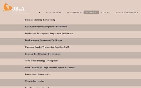 Screenshot of Services Page jamesburke.ie - Services   James Burke & Associates - captured Oct. 16, 2017