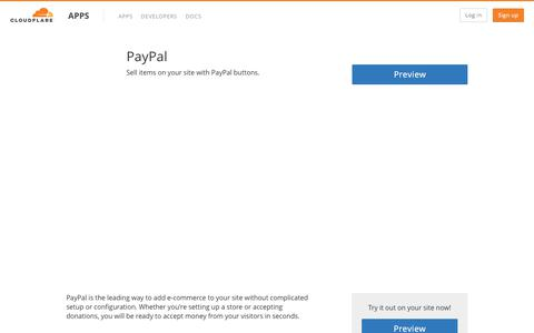 PayPal - Cloudflare Apps