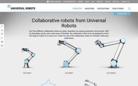 Collaborative robotic arms by Universal Robots | UR