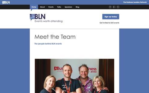 Screenshot of Team Page thebln.com - Meet the Team | The BLN - captured Dec. 3, 2016