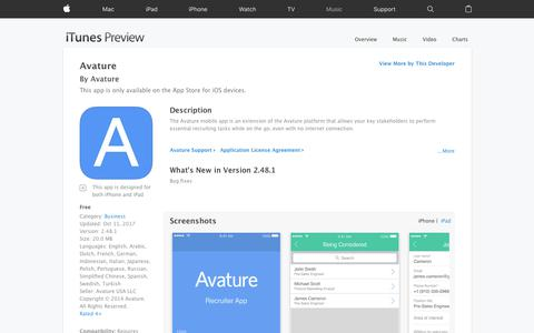 Avature on the App Store