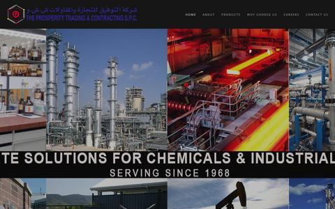 Screenshot of Home Page prospechem.com - Prosperity Trading   The Business Chemistry - captured Feb. 1, 2016