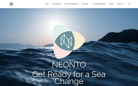Screenshot of Home Page neonto.com - NEONTO – Industrializing IT - captured July 11, 2018