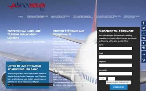 Screenshot of Locations Page aviationenglish.com - Locations | Aviation English Asia - AviationEnglish.com - captured Jan. 12, 2017