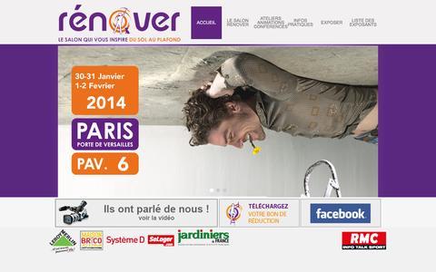 Screenshot of Home Page salonrenover.fr - Bienvenue sur Salon Renover © | Salon Renover © - captured Oct. 16, 2015