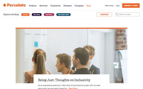 Screenshot of Blog percolate.com - The Percolate Blog | Marketing and Advertising Insights for Growing Brands - captured June 29, 2017