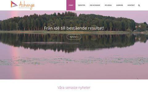 Screenshot of Home Page achangeadvisors.se - Välkommen till Achange Business Advisors | Achange Business Advisors - captured Jan. 28, 2016