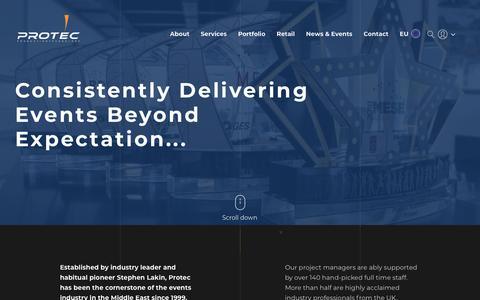 Screenshot of About Page productiontec.com - About - Production Technology LLC                                           Dubai   U.A.E - captured Sept. 30, 2018