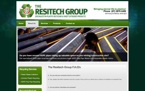 Screenshot of FAQ Page theresitechgroup.com - F.A.Q | The Resitech Group - captured Oct. 7, 2014
