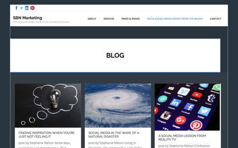 Screenshot of Blog sbnmktg.com - SEO & Social Media Marketing Tips   SBN Marketing Blog   SBN Marketing - captured Sept. 30, 2018