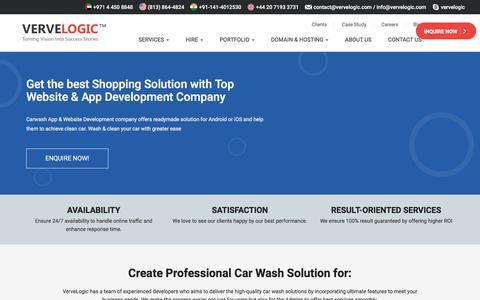 Screenshot of vervelogic.com - Car Wash Website & App Development Company - captured Jan. 8, 2018