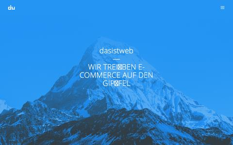Screenshot of Home Page dasistweb.de - e-commerce & web experts | dasistweb GmbH, Shopware Solution Partner Holzkirchen - captured Nov. 16, 2015