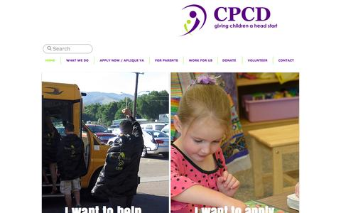 Screenshot of Home Page cpcdheadstart.org - CPCD giving children a head start - captured Jan. 23, 2016