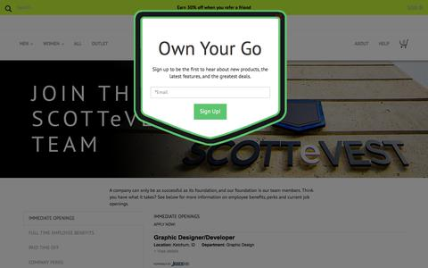 Careers with SCOTTeVEST - Jobs in Sun Valley, Idaho
