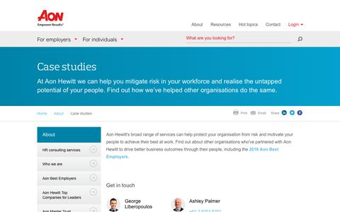 Screenshot of Case Studies Page aonhewitt.com.au - Case studies | Aon Hewitt Australia - captured Oct. 8, 2017