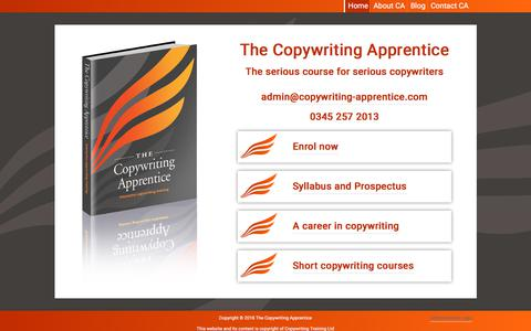 Home - The Copywriting Apprentice