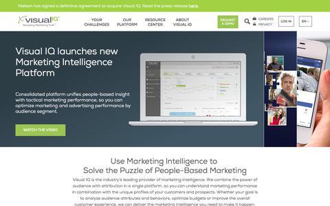Screenshot of Home Page visualiq.com - Visual IQ – The Leading Marketing Intelligence Provider - captured Sept. 27, 2017