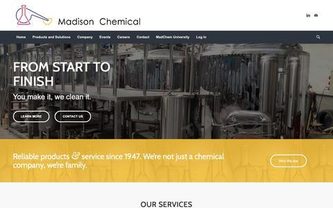 Screenshot of Home Page madchem.com - Home – Madison Chemical - captured Nov. 12, 2018