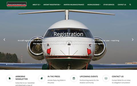 Screenshot of Home Page registeranaircraft.com - Home - Register An Aircraft - captured Sept. 4, 2015