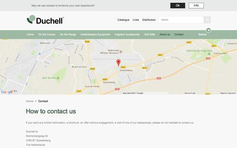 Screenshot of Contact Page duchell.com - Contact |  Duchell - captured Oct. 13, 2017