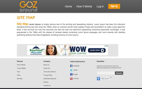 Screenshot of Site Map Page gozaround.com - site-map - captured Nov. 5, 2014