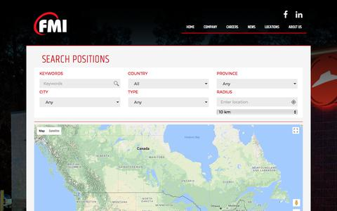 Screenshot of Jobs Page fmigroup.ca - Looking For Hospitality Jobs in Toronto? Check Here! - captured Oct. 13, 2017