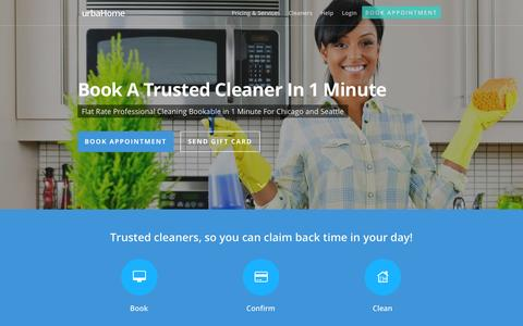 Screenshot of Home Page urbahome.com - urbaHome: House Cleaning Services | Maid Service - captured Sept. 30, 2014