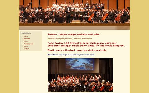 Screenshot of Services Page orchestracomposer.com - Services – Orchestra Composer - captured Oct. 3, 2017