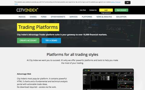 Forex Trading Platforms | Trade Platform | FX, CFD & Spread Betting Platforms | City Index