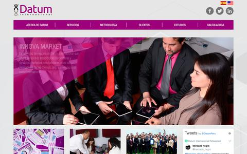 Screenshot of Home Page datum.com.pe - Datum Internacional - captured Feb. 25, 2018