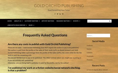 Screenshot of FAQ Page goldorchidpublishing.com - Frequently Asked Questions – Gold Orchid Publishing - captured May 21, 2017