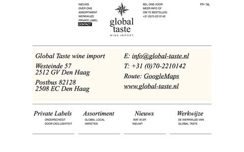 Screenshot of Contact Page global-taste.nl - Contact   Global Taste - captured Oct. 8, 2014
