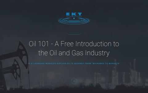 Screenshot of Trial Page ektinteractive.com - Oil 101 - A Free 10-Part Introduction to Oil and Gas - captured July 9, 2016